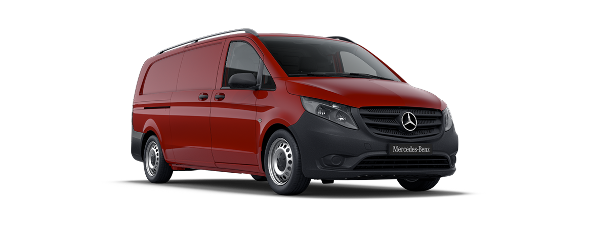 Vito panel van, jupiter red