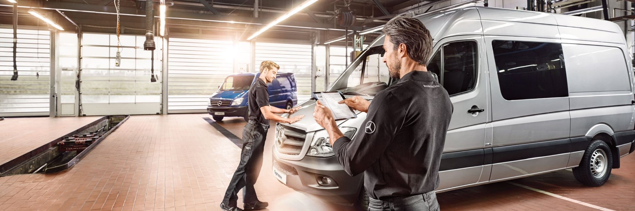 Mercedes-Benz services for vans.