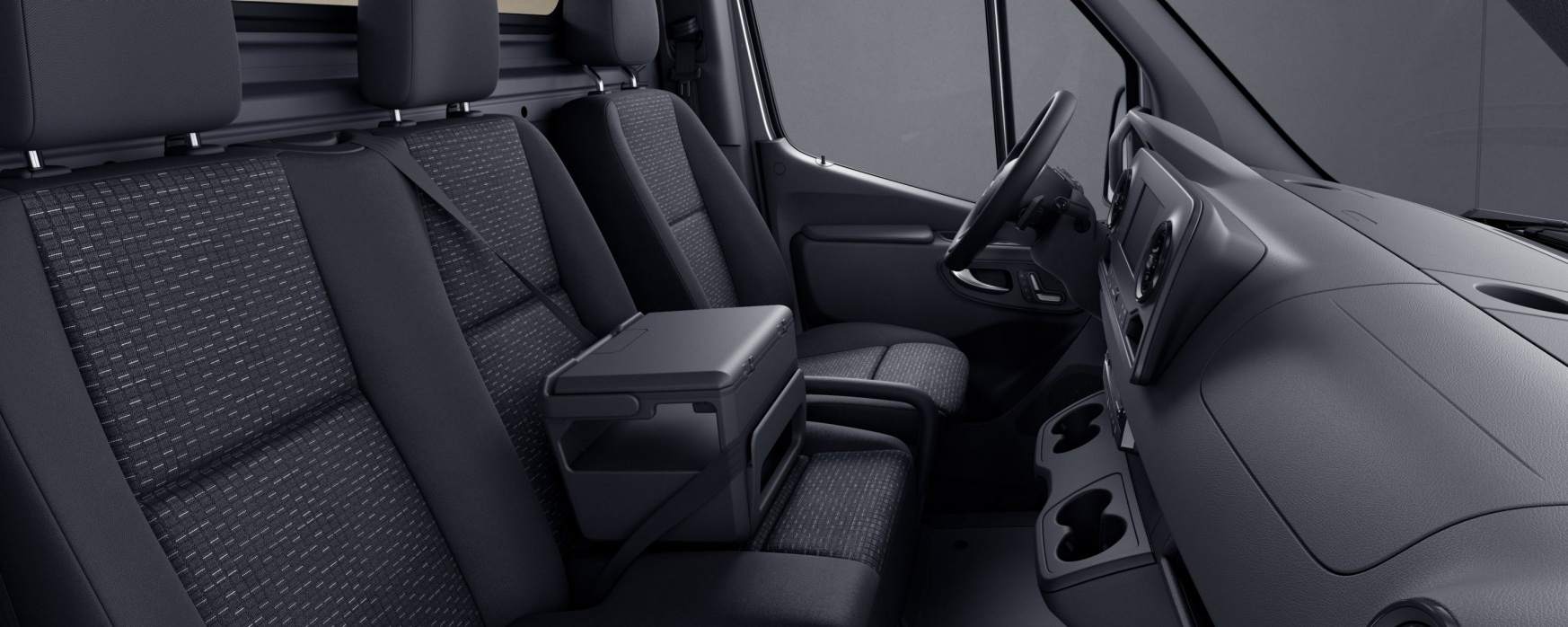 Sprinter Panel Van, Caluma black fabric