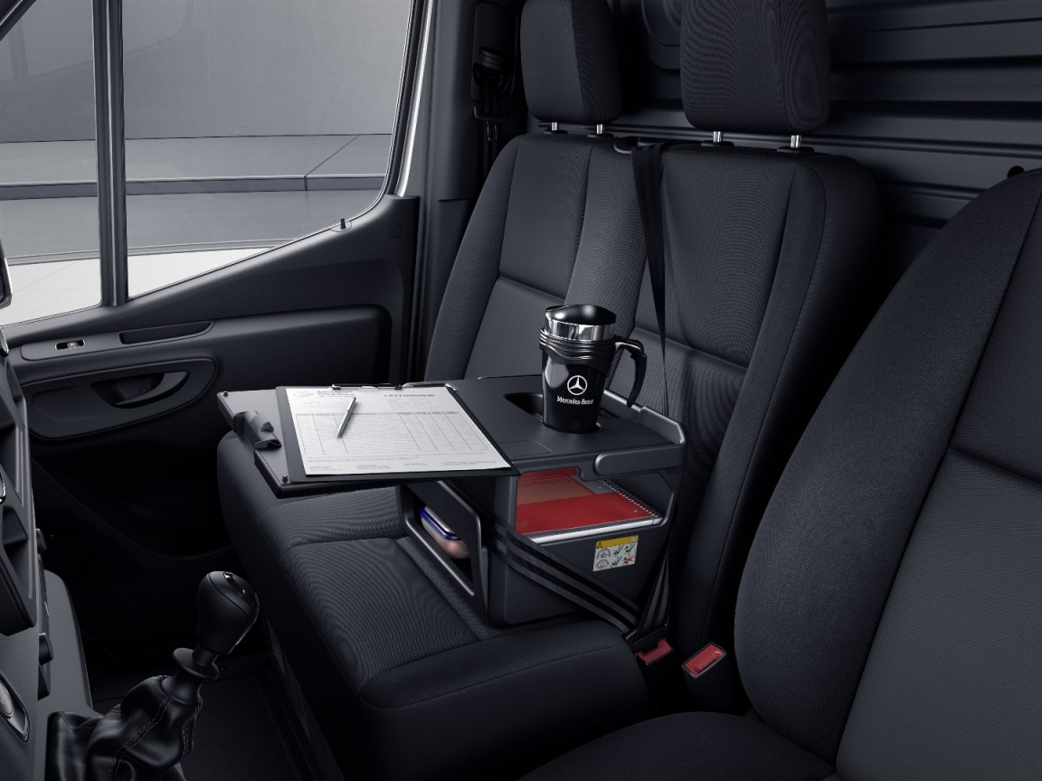 Sprinter Panel Van, multifunction box on dual seat, stowable